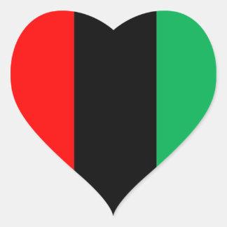 Adesivo Coração Kwanzaa colore o teste padrão verde preto vermelho
