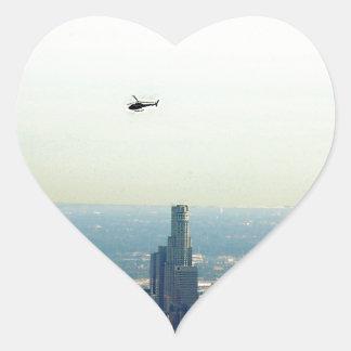 Adesivo Coração LA e helicóptero