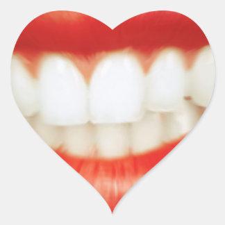 Adesivo Coração Lábios vermelhos