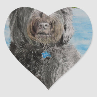 Adesivo Coração Labradoodle Stewart