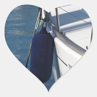 Adesivo Coração Lado esquerdo do barco de navigação com os dois