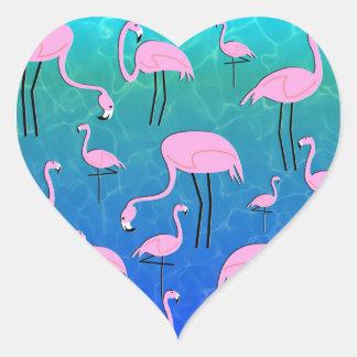 Adesivo Coração Lagoa do flamingo