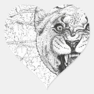 Adesivo Coração Leoa