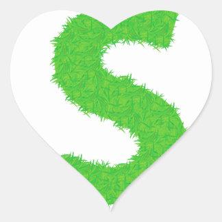 Adesivo Coração Letra da grama