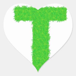 Adesivo Coração letra verde
