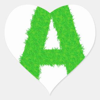 Adesivo Coração letras verdes