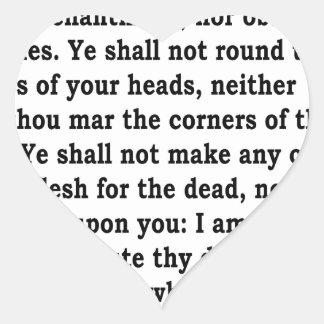 Adesivo Coração Lev. 19:26