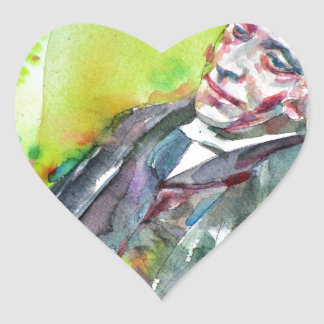 Adesivo Coração LEWIS CARROLL - aguarela portrait.2