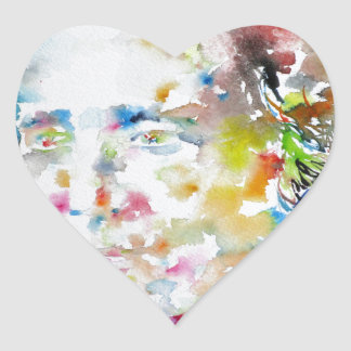Adesivo Coração LEWIS CARROLL - aguarela portrait.3