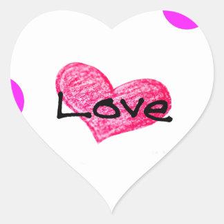 Adesivo Coração Língua inglesa do design do amor