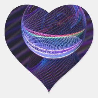 Adesivo Coração Linhas Checkered na bola de vidro