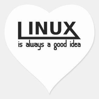Adesivo Coração Linux