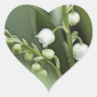 Adesivo Coração Lírio das flores do vale