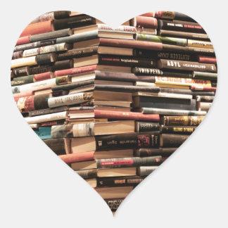 Adesivo Coração Livros