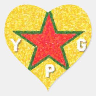 Adesivo Coração logotipo 3 do ypg