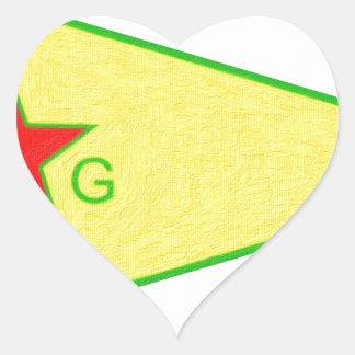 Adesivo Coração logotipo 5 a do ypg