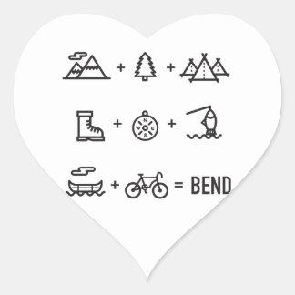 Adesivo Coração Logotipo da equação das atividades de Oregon da