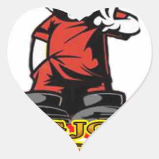 Adesivo Coração Logotipo de KJP