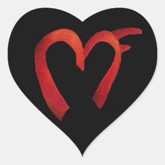 Adesivo Coração Logotipo do MF