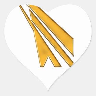Adesivo Coração logotipo do ouro