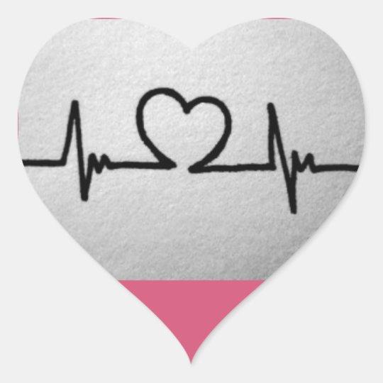 Adesivo Coração love cardiac