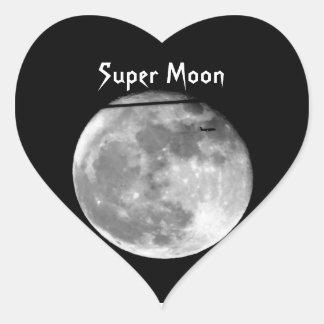 Adesivo Coração Lua super com a passagem do avião/customizável!