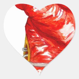 Adesivo Coração Luva de encaixotamento vermelha