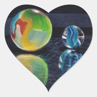 Adesivo Coração Luz de mármore
