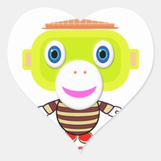 Adesivo Coração Macaco-Morocko Irresistível-Bonito