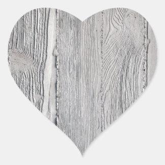 Adesivo Coração Madeira concreta