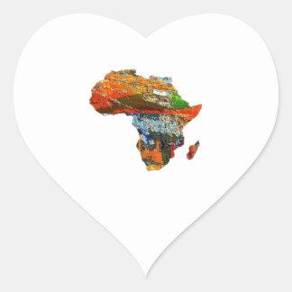 Adesivo Coração Mãe África