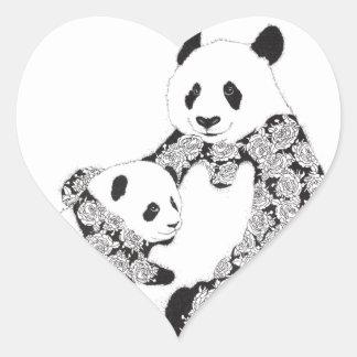 Adesivo Coração Mãe da panda & bebê Cub