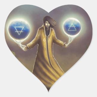 Adesivo Coração mágica da fantasia do feiticeiro