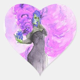 Adesivo Coração Mágica roxa
