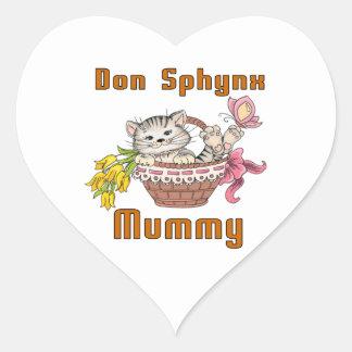 Adesivo Coração Mamã do gato de Don Sphynx