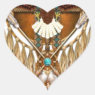 Adesivo Coração Mandala da águia americana - revisada