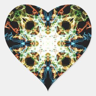 Adesivo Coração Mandala da iluminação