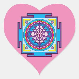 Adesivo Coração Mandala de Sri Yantra