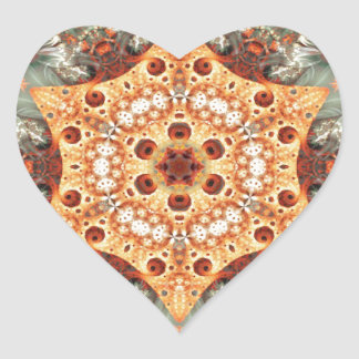 Adesivo Coração Mandalas do coração da liberdade 24 presentes