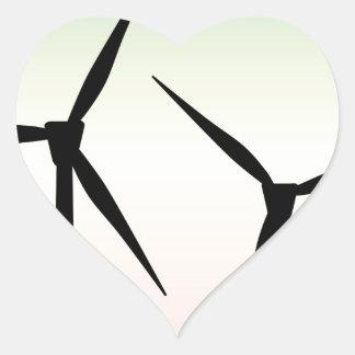 Adesivo Coração Manhã da fazenda de vento