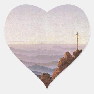 Adesivo Coração Manhã em Riesengebirge - Caspar David Friedrich