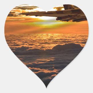 Adesivo Coração Manobra do por do sol do bombardeiro de Vulcan