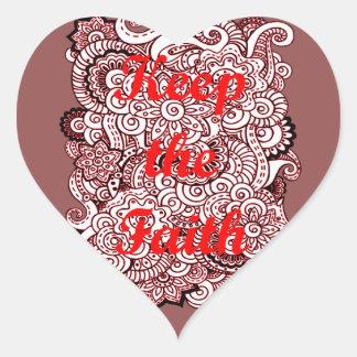 Adesivo Coração Mantenha a fé