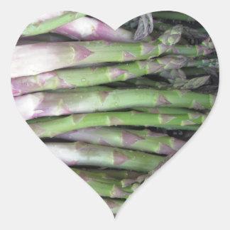 Adesivo Coração Mão fresca do aspargo escolhida do jardim
