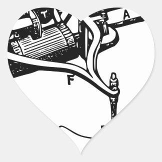Adesivo Coração Mão que repara o dispositivo velho
