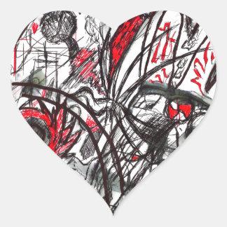 Adesivo Coração Mãos do desenho da caneta da raiva