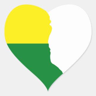 Adesivo Coração Mapa da bandeira de Delaware LGBT