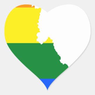 Adesivo Coração Mapa da bandeira de Idaho LGBT