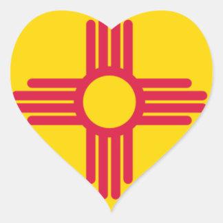 Adesivo Coração Mapa da bandeira de New mexico