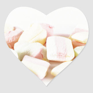 Adesivo Coração Marshmallows dos doces